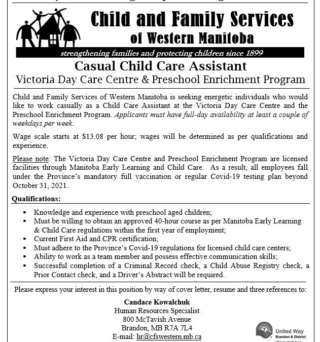 Casual Child Care Assistants