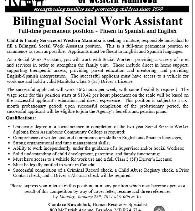 Bilingual Social Work Assistant